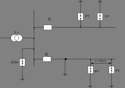 Рис.8 Схема грозозащиты ВЛ-10