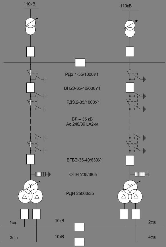 Варианты схем электроснабжения