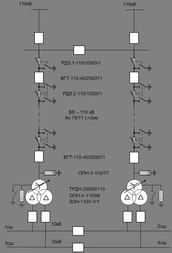 Рисунок 3.2- Вариант схемы
