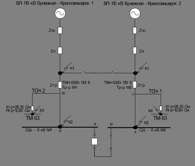 Рисунок 2.2 Схема замещения
