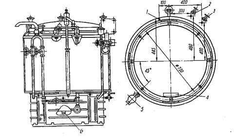 Монтажная схема котла КПЭ-250.