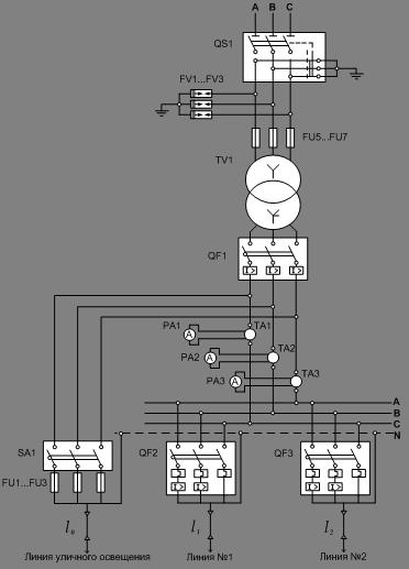 Рис.1 Электрическая схема